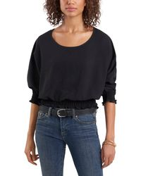 Vince Camuto Crinkle Twill Blouse - Black