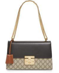 9638634e9 Gucci - Medium Padlock Leather Shoulder Bag - Lyst
