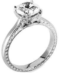 Jack Kelége Platinum & Diamond Setting Ring - Metallic
