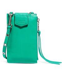 Aimee Kestenberg Getaway Rfid Leather Phone Crossbody Pouch - Green