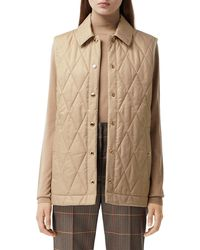 Burberry Quilted Vest - Natural