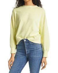 Rails Alice Cotton Blend Sweatshirt - Yellow