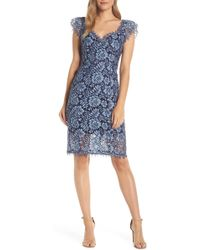 Eliza J - Floral Lace Sheath Dress - Lyst