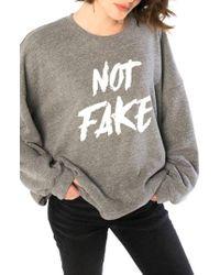 Slink Jeans - Not Fake Oversize Sweatshirt - Lyst