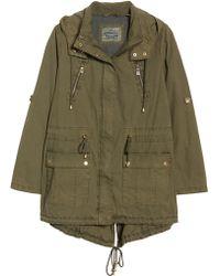 Levi's - Parachute Hooded Cotton Utility Jacket - Lyst