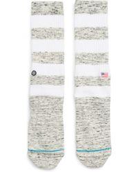 Stance Brice Socks - White