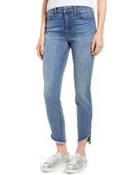 Jen7 - Raw Hem Skinny Jeans - Lyst