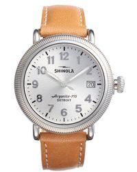 Shinola - The Runwell Leather Strap Watch - Lyst