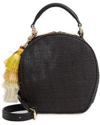 Deux Lux - Grenada Woven Straw Circle Crossbody Bag - Lyst