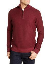 David Donahue - Ice Merino Wool Quarter Zip Pullover - Lyst