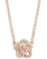 EF Collection - Diamond Pendant Necklace - Lyst