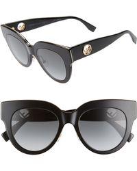 15f5135002e Lyst - Fendi 0105 Fanny Cat Eye Sunglasses in Black