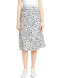 ATM Cheetah Print Silk Skirt - Black