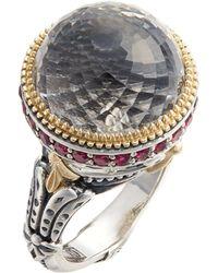 Konstantino - Pythia Large Crystal Ring - Lyst