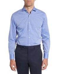 BOSS - Mark Sharp Fit Dot Dress Shirt - Lyst