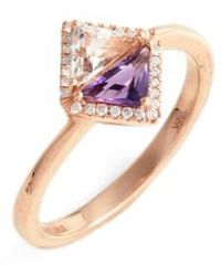 Bony Levy - Iris Double Triangle Diamond & Semiprecious Stone Ring (nordstrom Exclusive) - Lyst