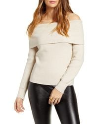 Leith Off The Shoulder Sweater - Natural