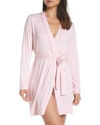 686e200f91 Lyst - UGG Ugg Aldridge Stripe Short Robe in Pink