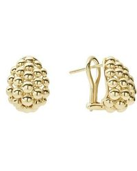 Lagos - Caviar Gold Bold Medium Omega Clip Earrings - Lyst
