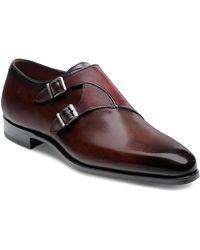 Magnanni - Tabor Plain Toe Monk Strap Shoe - Lyst