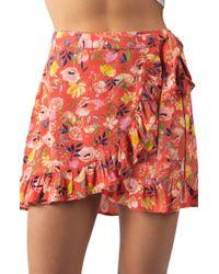 Rip Curl - Meadowbrook Ruffle Miniskirt - Lyst