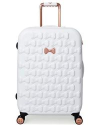 Ted Baker - Medium Beau Bow Embossed Four-wheel 27-inch Trolley Suitcase - Lyst