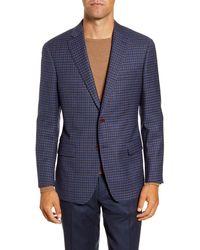 Hart Schaffner Marx Classic Fit Check Stretch Wool Sport Coat - Blue