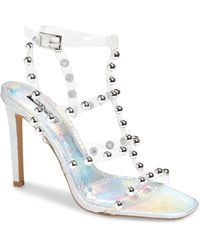 TOPSHOP Space Silver Stud Cage Sandals - Metallic
