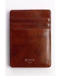 Bosca - Old Leather Front Pocket Wallet - Lyst