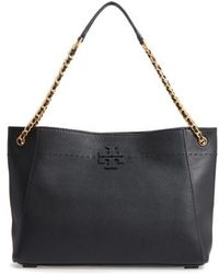 Tory Burch - Mcgraw Slouchy Leather Shoulder Bag - Lyst