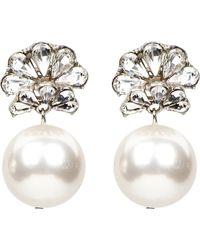 Ben-Amun - Fan Crystal Imitation Pearl Drop Earrings - Lyst
