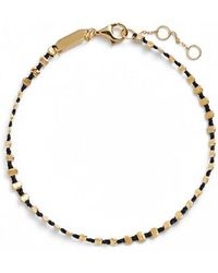 Argento Vivo - Sydney Vermeil Studded Black Band Bracelet - Lyst