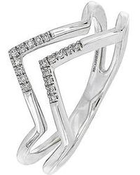 CARRIERE JEWELRY - Carriere Double-v Diamond Ring (nordstrom Exclusive) - Lyst