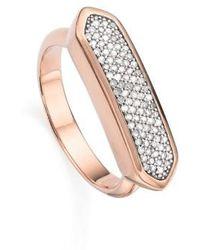 Monica Vinader - 'baja' Pave Diamond Ring - Lyst