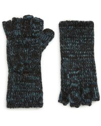 Rebecca Minkoff Subtle Mouline Pop Top Mittens (mallard Blue/black/black) Extreme Cold Weather Gloves
