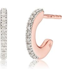 Monica Vinader - Small Fiji Diamond Hoop Earrings - Lyst