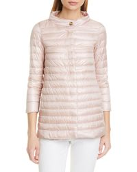 Herno Classic High/low A-line Down Puffer Jacket - Pink
