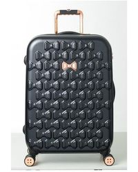 Ted Baker | Medium Beau Bow Embossed Four-wheel 27-inch Trolley Suitcase | Lyst