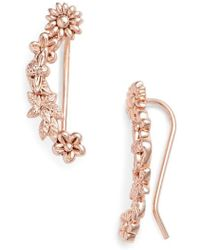 Olivia Burton - Bee Blooms Crawler Earrings - Lyst