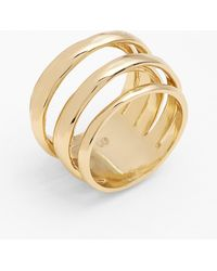 Alexis Bittar 'miss Havisham - Kinetic Gold' Stack Ring - Metallic