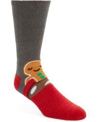 Nordstrom Gingerbread Man Butter Socks - Gray