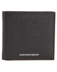 Alexander McQueen - Leather Billfold Wallet - Lyst