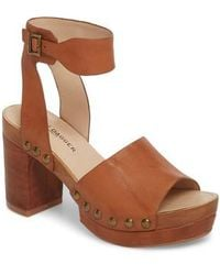 109512bbb624 Lyst - Hush Puppies Janae Farris Open Toe Leather Wedge Sandal