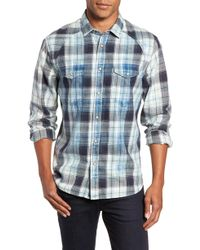 Jeremiah - Sawtooth Regular Fit Crosshatch Plaid Shirt - Lyst