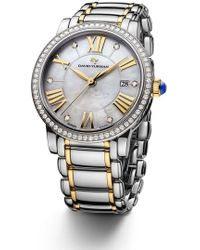 David Yurman - 'classic' 38mm Stainless Steel Quartz With Diamond Bezel And Gold - Lyst