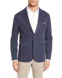 Eleventy | Trim Fit Jersey Blazer | Lyst