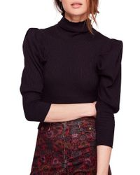 Free People - Lala Mock Neck Top - Lyst