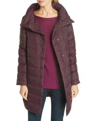 Eileen Fisher - Stand Collar Cocoon Down Coat - Lyst