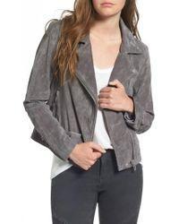 Blank NYC - Suede Moto Jacket - Lyst