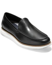 e856a94930f Lyst - Cole Haan Original Grand Leather Loafers in Black for Men